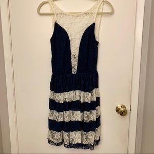 ASOS Lace Stripe Dress
